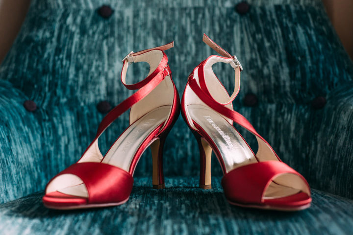 Red shoes-wedding shoes